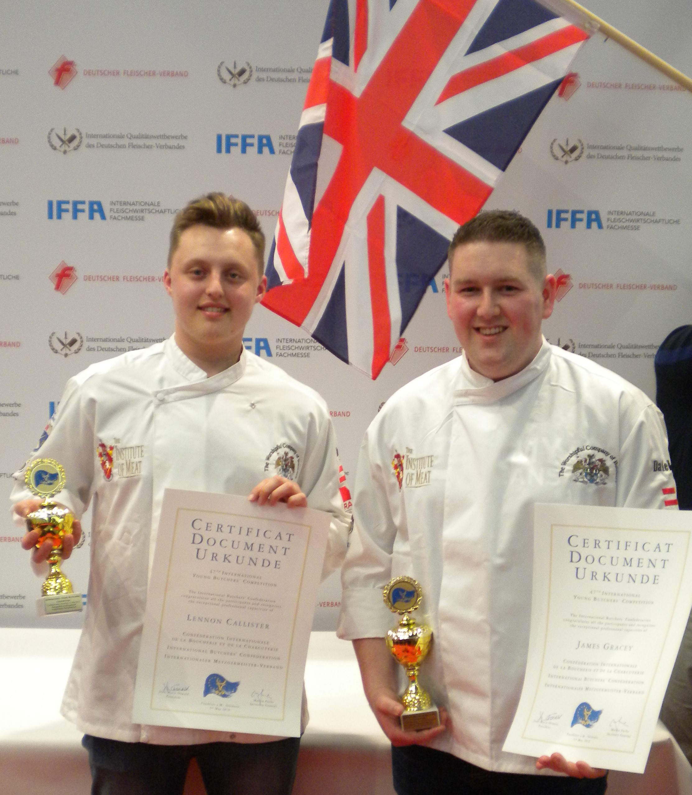Team UK's Lennon Callister and James Gracey bring back success